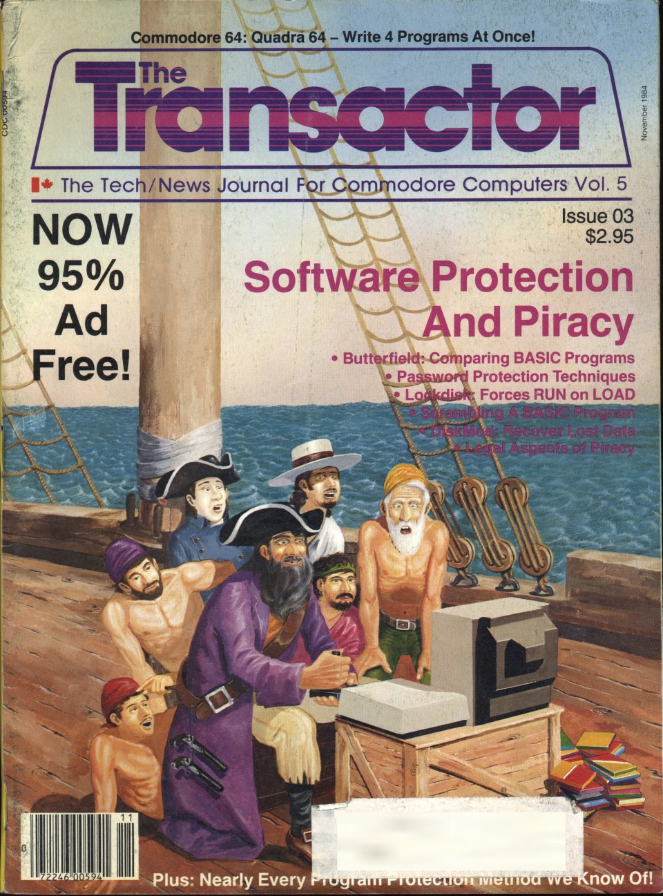 [Cover Page of The Transactor Volume 5, Issue 3: Software Protection and Piracy]