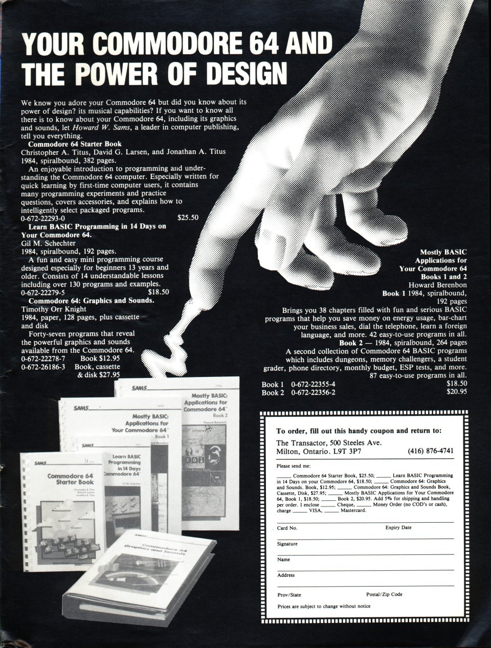 [Advertisement: Your Commodore 64 and the Power of Design]