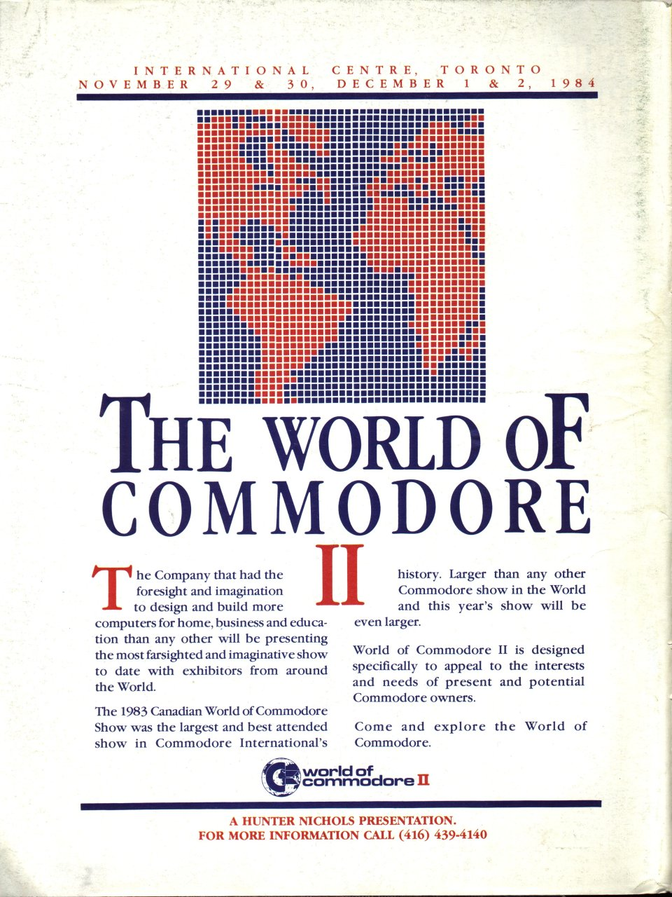 [Advertisement: The World of Commodore II]