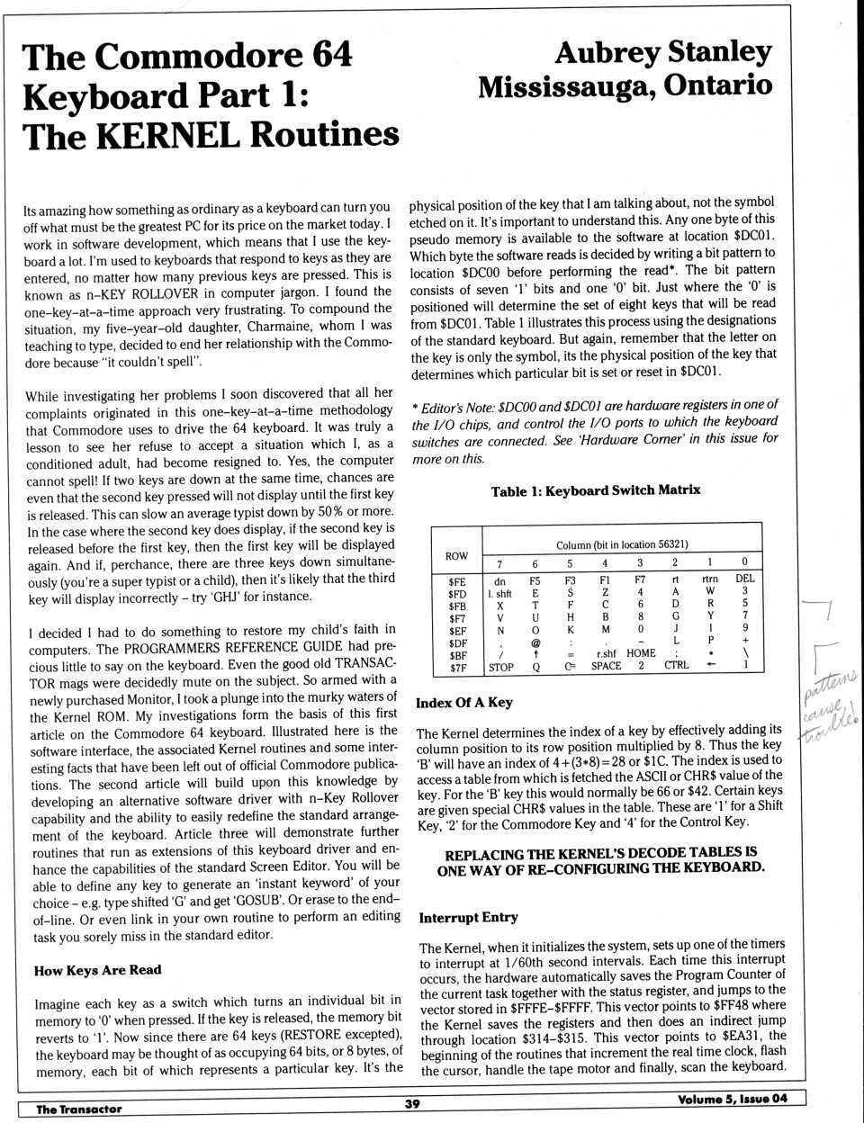 [The Commodore 64 Keyboard, Part 1: The KERNEL Routines (1/5)]