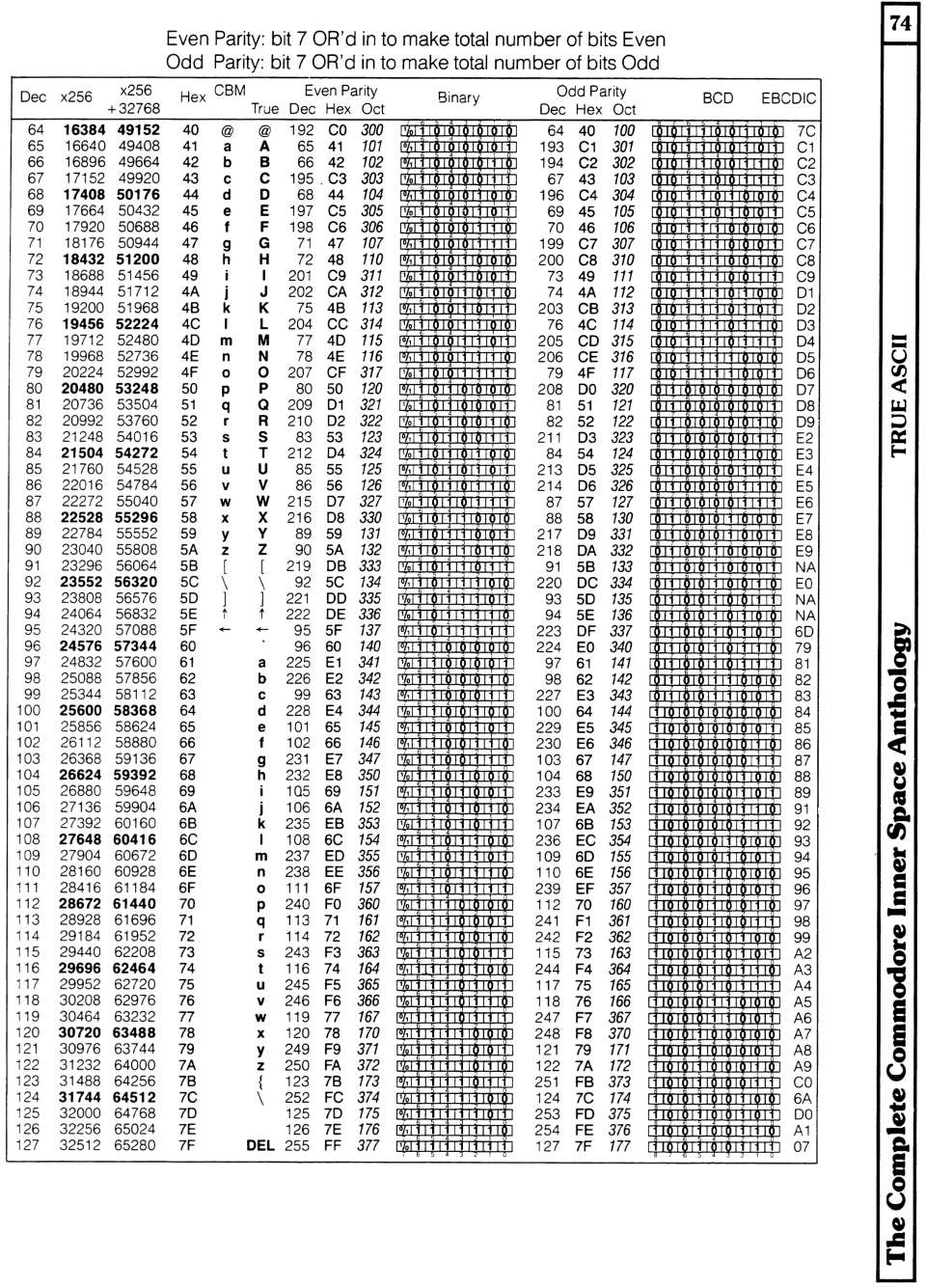 [960×1335 Video Section: True ASCII Conversion Table (2 of 2)]